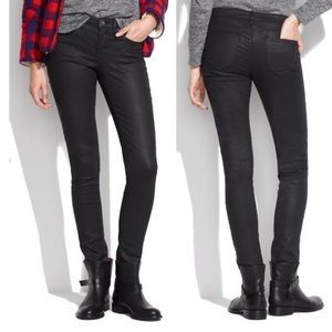 Madewell black coated rocker skinny jeans
